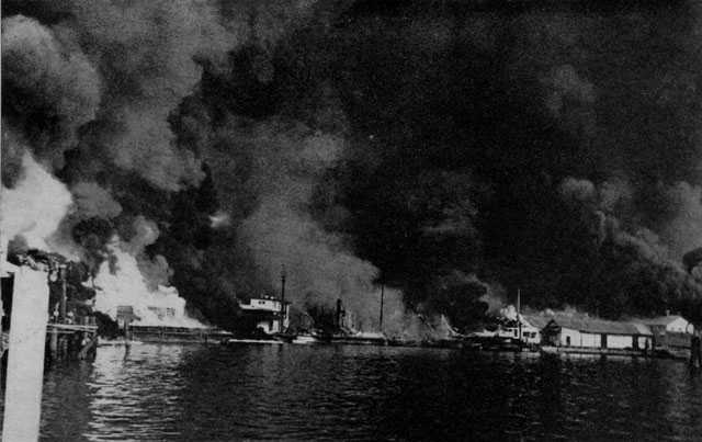 Cavite Navy Yard destroyed