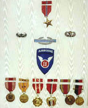 Harry Krumm's medals/badges